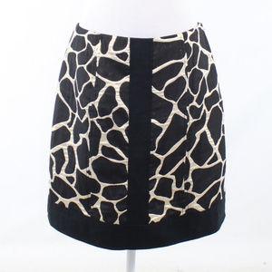 Etcetera black shimmery A-line skirt 10
